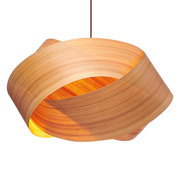SERENE cypress wood veneer chandelier