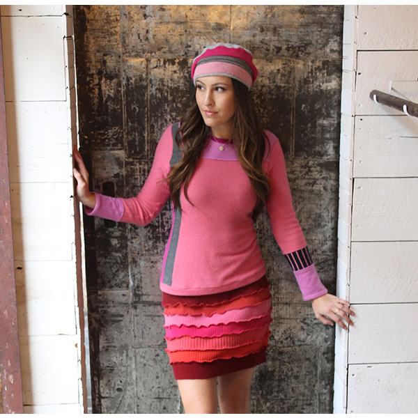 Trixie Sweater and Beret- Recycled Cashmere