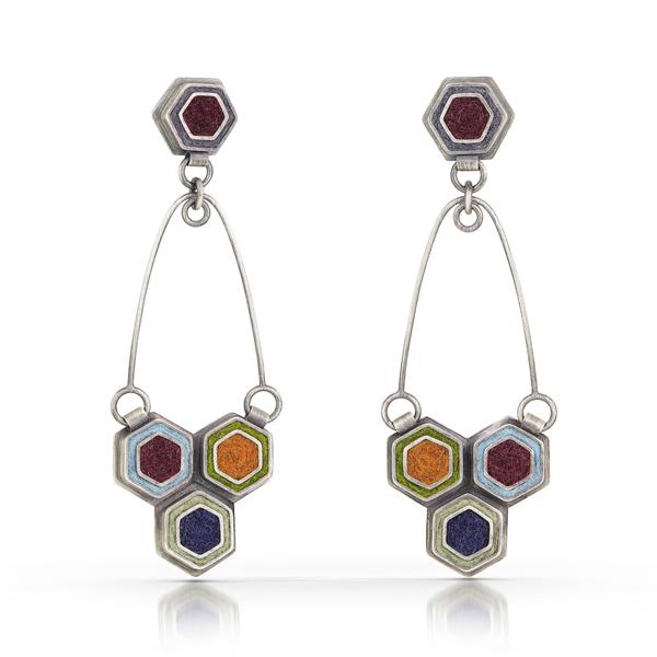 Two Part Hexagon Earrings