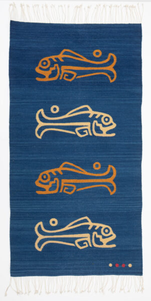 """""""NATIVO"""" 32"""" X 60"""" Hand woven rug/tapestry, wool, vegetable dyes."""
