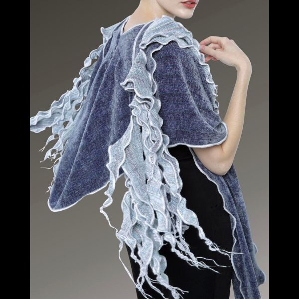 Waterfall Scarf with Hooded Shawl