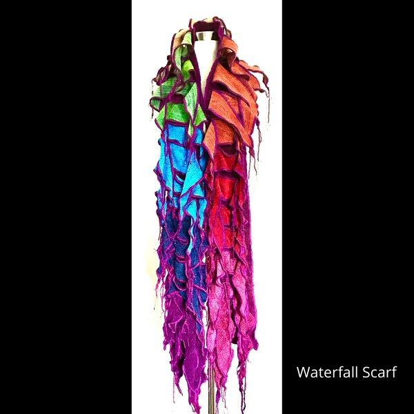 Waterfall Scarf in Summer Colors
