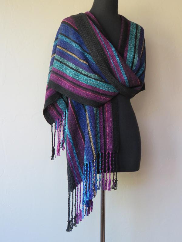 Jewel tones shawl
