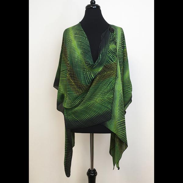 Emerald/Black Shibori Jacket