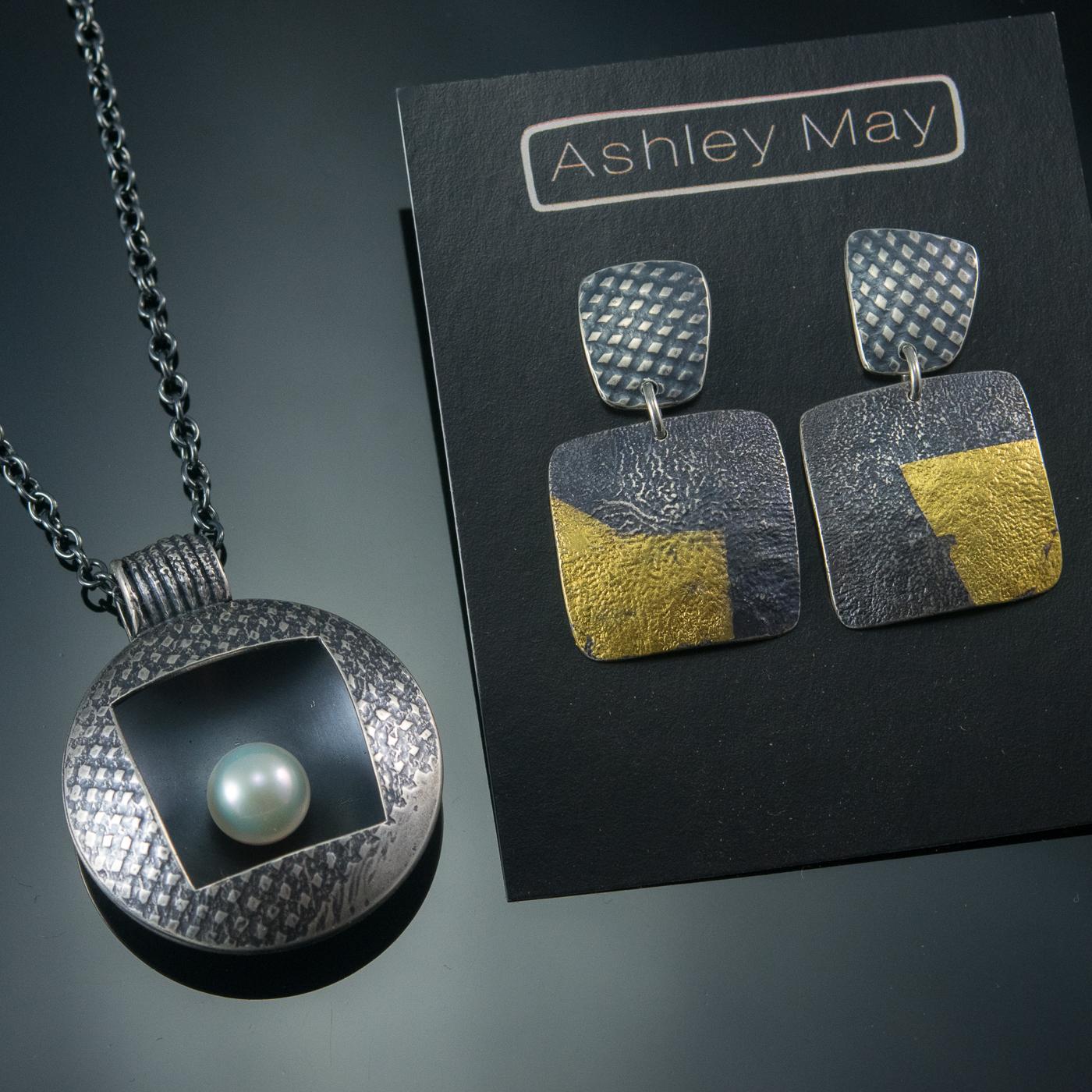 Silver Pearl Nest & Kemboo Post Earrings