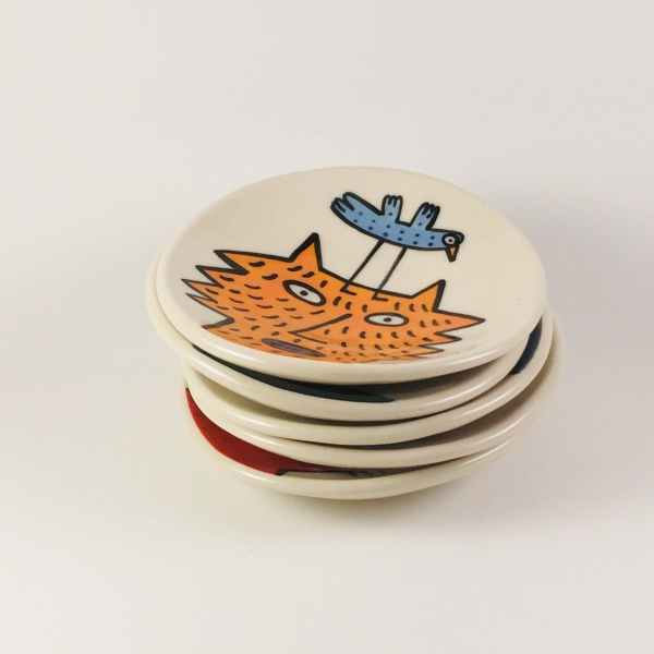 little painted dishes