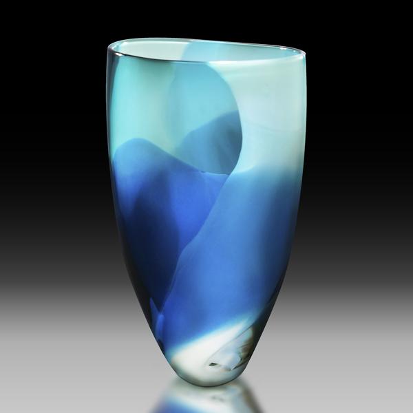 Blown Glass Watercolor Vessel
